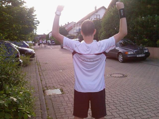 Benny Siegerpose - vor dem Rennen ;-)